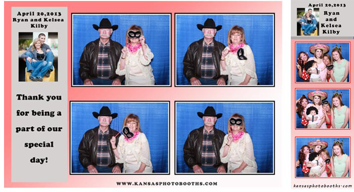 Photo booth example of social media and 2x6 print size.